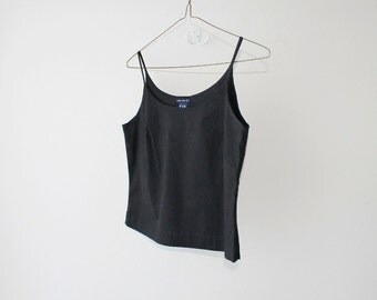 1990's GAP Black Cotton Camisole Cropped Top