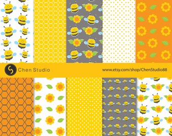 Bumble Bee Pattern Etsy