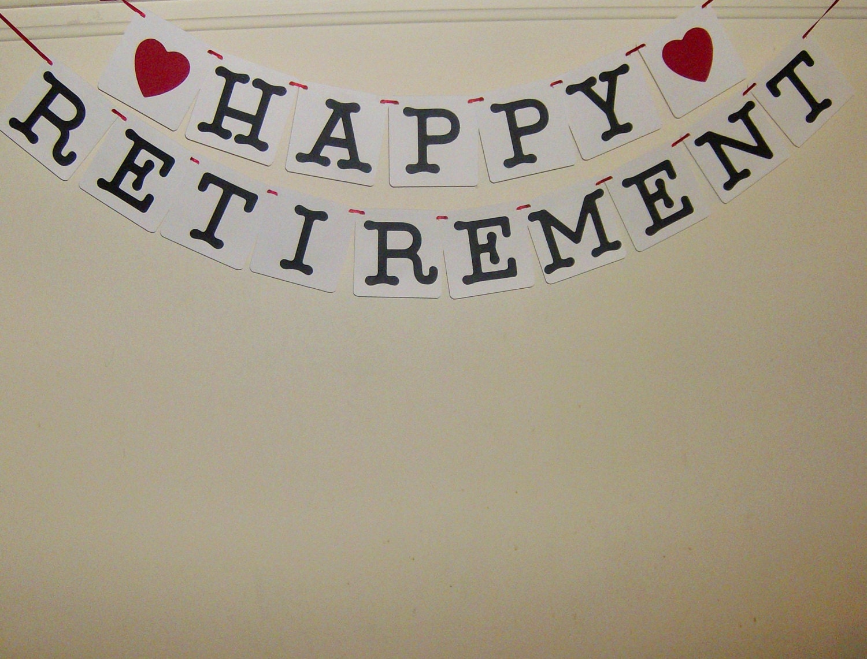 happy retirement banner retirement congratulations