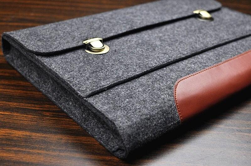aktentasche laptop tasche leder laptop h lle filz laptop. Black Bedroom Furniture Sets. Home Design Ideas