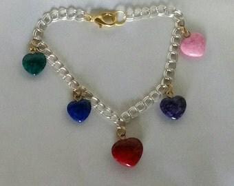 Stone Hearts Bracelet