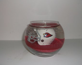 Custom Hand-Made Arizona Cardinals Ocean Mist Scented Gel Candle
