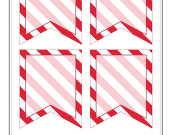 BF022- Stripe Flags- Red