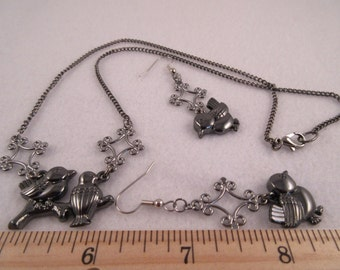 Gunmetal Birds 3-Pc Set