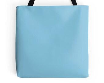 Pastel Blue Tote Bag, Blue Bag, Blue Tote Bag, Light Blue Bag, Blue Purse, Pastel Blue Tote, Light Blue Bookbag, Blue Handbag, Blue Tote