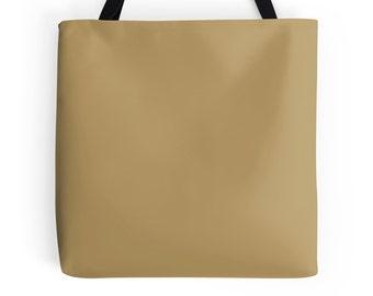 Gold Tote Bag, Gold Bag, Gold Purse, Gold Tote, Gold Bookbag