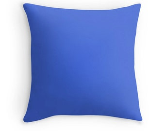 Royal Blue Pillow, Royal Blue Throw Pillow, Royal Blue Toss Pillow, Blue Toss Pillow, Blue Throw Pillow, Blue Pillow Case, Blue Decor