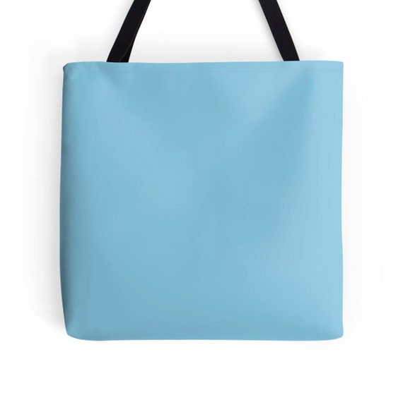Pastel Blue Tote Bag Blue Bag Blue Tote Bag Light Blue Bag