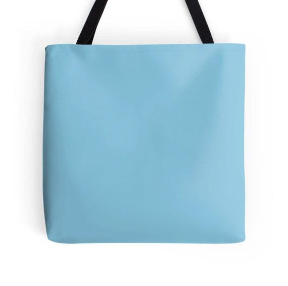 Pastel Blue Tote Bag Blue Bag Blue Tote Bag Light Blue Bag
