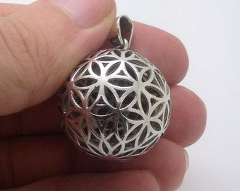Flower Of Life Ball Pendant Sterling Silver 925 Seed of life sacred geometry