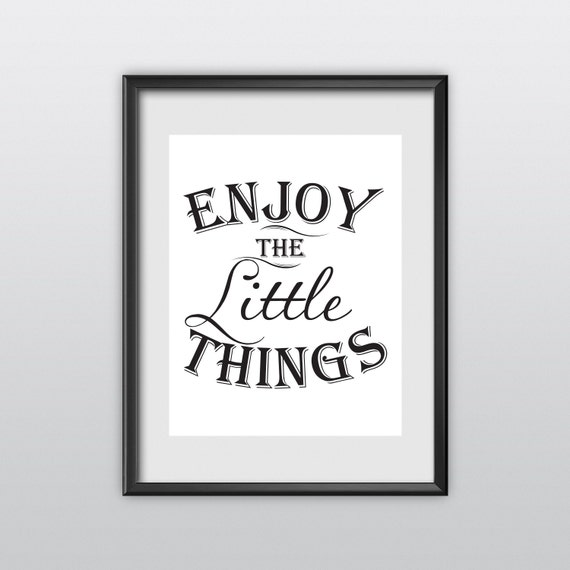 Motivational Printable Art Typography Poster Inspirational Prints Enjoy the Little Things Handwriting Style Motivation Home Decor (T99)