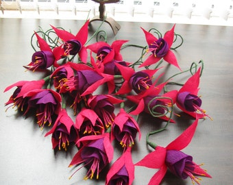 Fuchsia, Paper flower, Wedding decoration