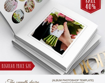 Wedding Photobook - 12x12 - Album Photoshop Templates - Album Template for Photographers - Instant Download