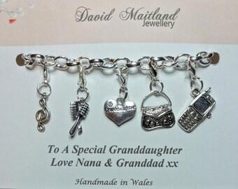 Granddaughter Lucky Charm Bracelet