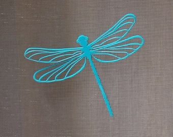 Screen door saver Magnet Dragonfly | Magnetic Decal |  Delicate Laser cut Acrylic | Entomology | assorted colors