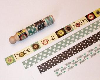 Hope Love Faith Hearts Arrows Washi Sample Set
