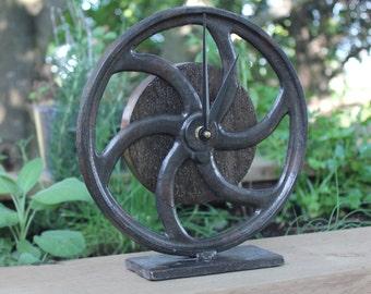 Antique Cart Wheel Mantle Clock