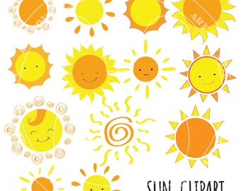 SUN CLIPART PNG [smiling sun]