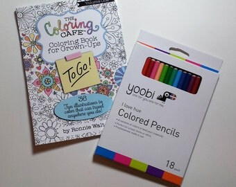 The Coloring CafeTM To Go Travel Book Kit With Colored Pencils For Grown