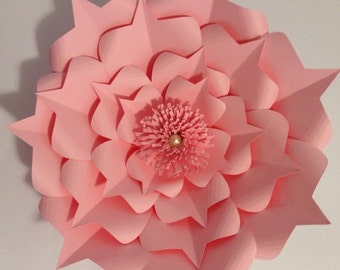 Princess Paper Flower Backdrop-Large Paper Flower-Backdrop-Photo Booth-Wedding Backdrop-Nursery-Paper Flower Wall-Decor-Birthda