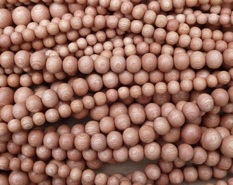 Natural Rosewood Round Beads Various Sizes 16'' Strand