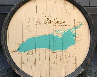 Lake Ontario Map Barrel End