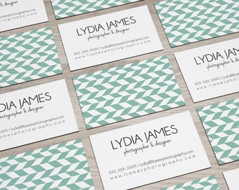 Pre-made Business Card Design | Herringbone Business Card Design | Modern Design | Digital File