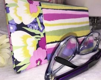 Eyeglass Case, Sunglass Case, Stripe Glasses Case, Slip Style, Floral Sunglasses Case, Eyeglasses Case
