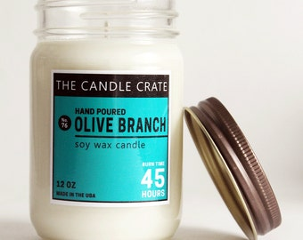 Olive Branch 12 Ounce Soy Wax Container Candle