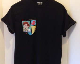 "Pocket T-Shirt ""I love Lucy"""