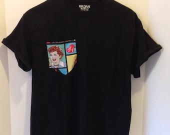 "Pocket T-Shirt ""I love Lucy"""