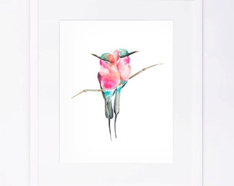 Watercolor Birds Print
