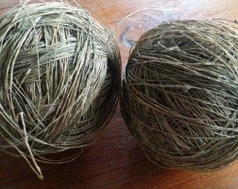 2 Pcs. Natural hemp yarn ball