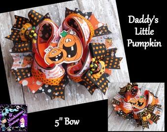 Daddy's Little Pumpkin OTT Bow