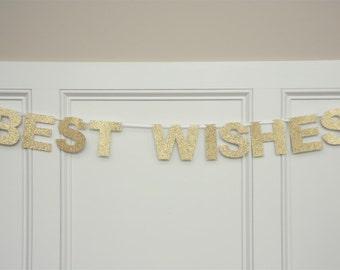 BEST WISHES Banner, Best Wishes Garland, Wedding garland, Wedding banner, Wedding decoration