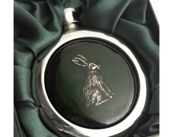 Rabbit Whiskey Flask