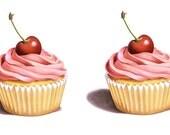 Temporary Tattoo - Set of 2 Cupcakes Series