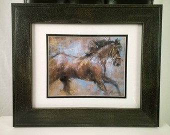 "Framed 11x14 Giclee on Horse by Celeste Susany - ""Mystical"""