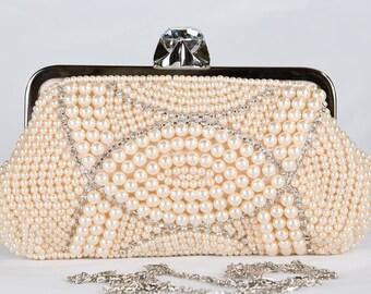 Pear IVORY Clutch Bag, Evening Clutch, Bridal Clutch Bag, Custom Wedding c49