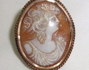 Cameo Italian Pin Victorian