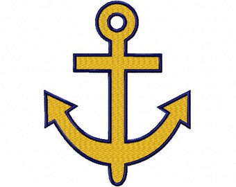 Anchor Embroidery Design.
