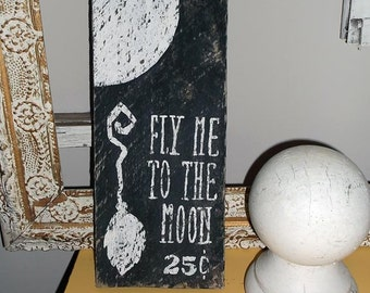Halloween Hand Painted Wooden Sign, Witch Broom Sign, Wooden Sign, Halloween Wood Sign, Halloween, Halloween Sign, Home Decor, Shabby Chic