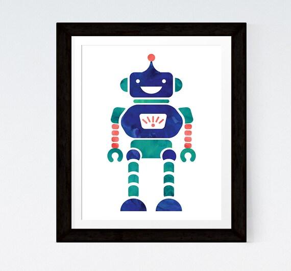 affiche chambre garon affiche robot affiche scandinave art robot affiches scandinaves affiche chambre bb - Affiche Garcon Robot