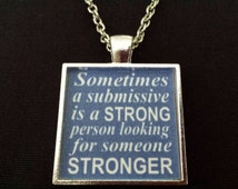 BDSM Strong Submissive Jewelry Dom Sub Master Sir Slave D&S Kinky Fetish Lifestyle Love Necklace Consensual Jewelry