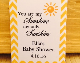 You are my sunshine baby, Baby Shower Favors, Baby Shower Seed Packets, Baby Shower, Sun Baby Shower Favors, Sunshine Baby Shower Favors