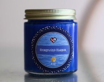 CLEARANCE SALE-- Stormwind Harbor -- World of Warcraft Inspired Soy Candle (4 oz)