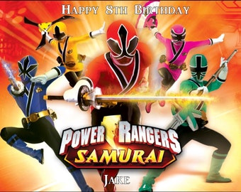 A4 Power Rangers Personalised Icing/Premium Rice Paper Cake Topper