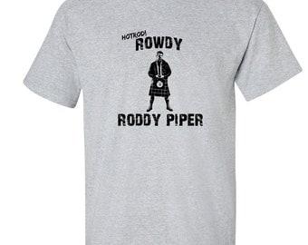 Rowdy Roddy Piper T Shirt Hotrod Roddy Piper Wrestling T-Shirt 3 COLORS