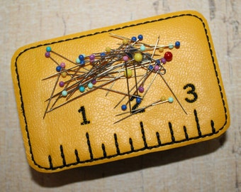 Pincushion Tin Measuring Tape Embroidery Machine Design for the 4x4 hoop