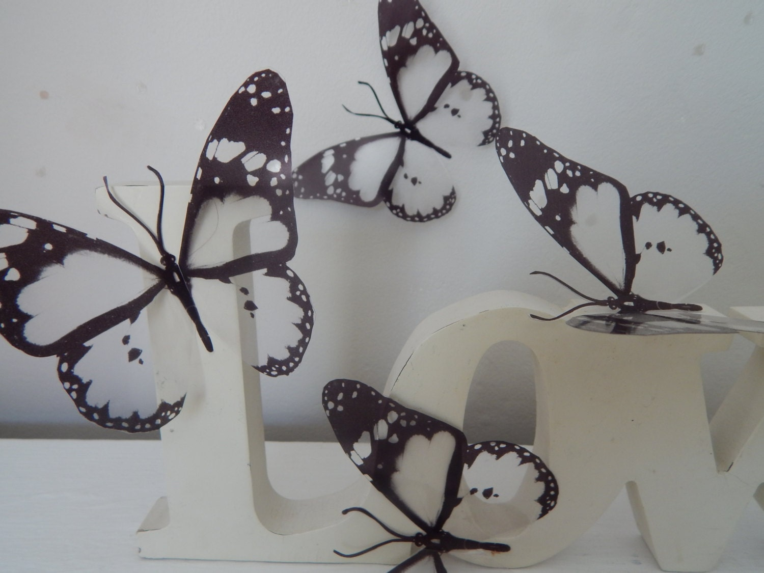 3d butterfly stickers black and white butterfly 3d wall art in 3d butterfly stickers black and white butterfly 3d wall art in flight wall art decals window wall decal for home decor nature wall art